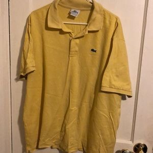 Men's xxl yellow Lacoste polo.